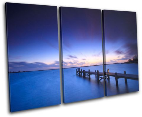 Lake Jetty Pier Sunset Seascape - 13-1051(00B)-TR32-LO